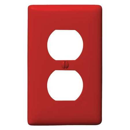 Duplex Wall Plate 1 Gang Red Model NP8R by USA Hubbell Kellems Electrical Wall Plates
