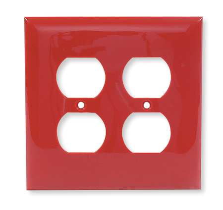 Duplex Wall Plate 2 Gang Red Model NP82R by USA Hubbell Kellems Electrical Wall Plates