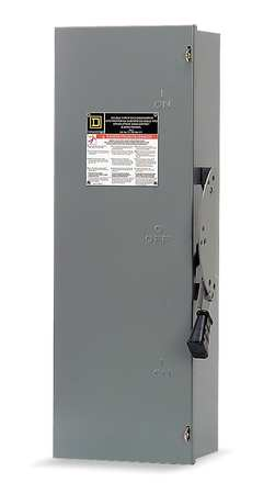 30 Amp 600VAC Double Throw Safety Switch 3P by USA Square D Electrical Safety & Disconnect Switches