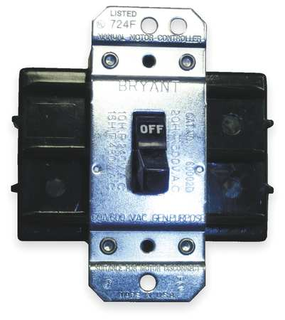 Manual Motor Switch 60A 600VAC 2P by USA Hubbell Kellems Electrical Motor Manual Switches & Starters