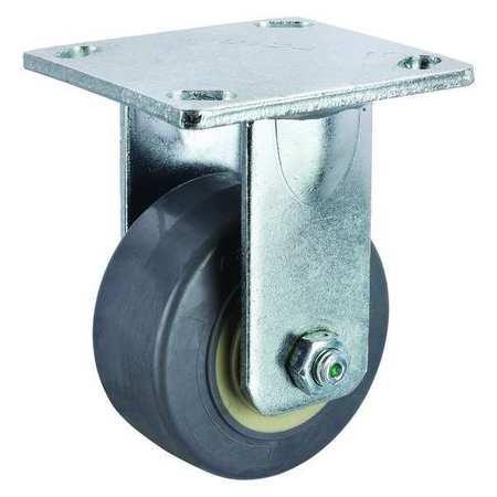 Value Brand Rigid Plate Caster Rubber 4 in. 350 lb.