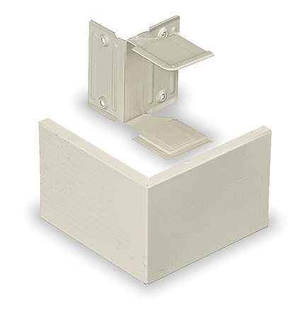 External Corner Coupling Ivory Model HBL3018AEIV by USA Hubbell Kellems Electrical Raceway Fittings