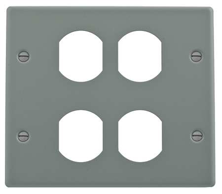 Duplex Plate Gray Steel Plates by USA Hubbell Kellems Electrical Raceway Fittings
