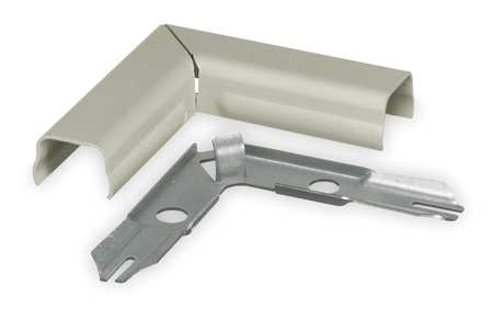 Flat Elbow 90 deg. Ivory Steel Elbows Model HBL511IV by USA Hubbell Kellems Electrical Raceway Fittings