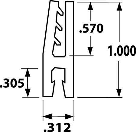 Tanis Strip Brush Holder PVC 12 In L PK10