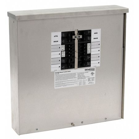 Manual Transfer Switch 50A 125/250V by USA Generac Electrical Generator Accessories