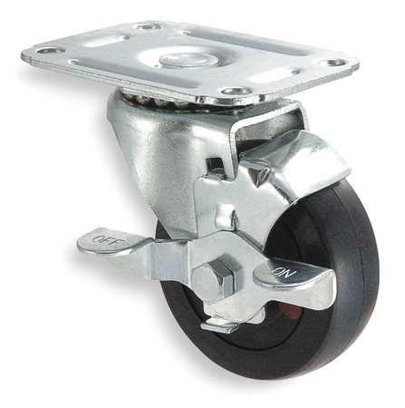Value Brand Swivel Plate Caster Rubber 3 in. 100 lb.