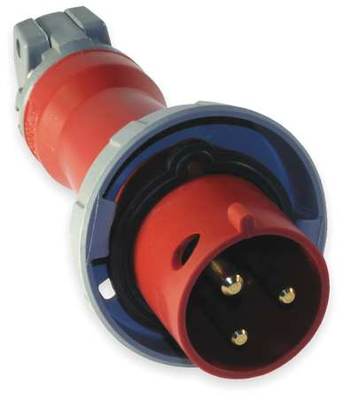 IEC Pin and Sleeve Plug 2P 3W 20A 480V by USA Hubbell Kellems Electrical Pin & Sleeve Devices