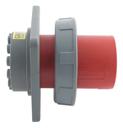 IEC Pin and Sleeve Inlet 60A 480V Red by USA Hubbell Kellems Electrical Pin & Sleeve Receptacles
