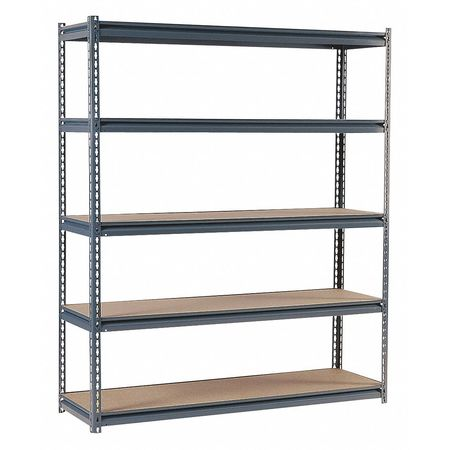 VALUE BRAND - Boltless Shelving, 72x18x72, 5 Shelf