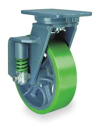 Value Brand Swivel Plate Caster Polyurethane 8 in.