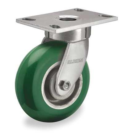 Value Brand Kingpinless Swivel Plate Caster 1400lb Green
