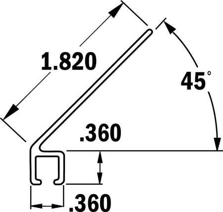 Tanis Strip Brush Holder Sz 1.82 48 In L PK10