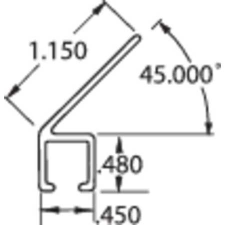 Tanis Strip Brush Holder Sz 1.15 84 In L PK10