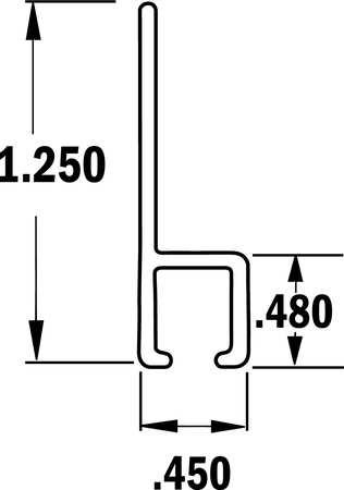 Tanis Strip Brush Holder Sz 1.25 24 InL PK10