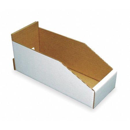 Corrugated Shelf Bin,200 Lb.,6-1/4 In. W