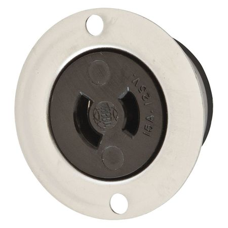 15A Midget Locking Flanged Receptacle 2P 2W 120VAC by USA Hubbell Kellems Electrical Locking Receptacles