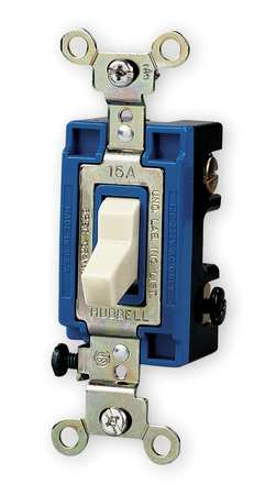 Wall Swtch 1 Pol 120/277V 15A Ivry Toggl by USA Hubbell Kellems Electrical Wall Switches