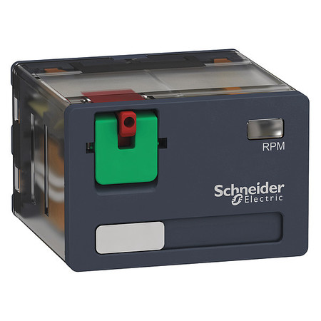 Plug In Relay 14 Pins Square 120VAC Model RPM41F7 by USA Schneider Electrical Specialty Relays