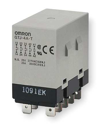 Enclosed Power Relay 10Pin 24VDC 4PST NO by USA Omron Electrical Specialty Relays