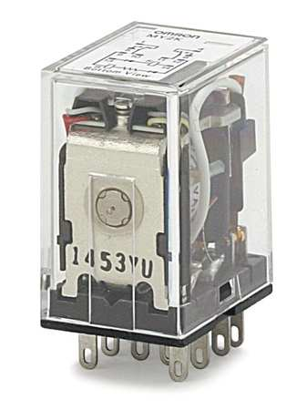 Latching Relay 10 Pins Square 120VAC by USA Omron Electrical Specialty Relays