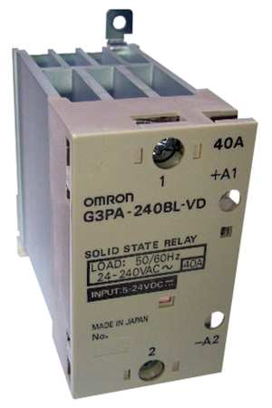 Solid State Relay 5 to 24VDC 40A Model G3PA 240B VD DC5 24 by USA Omron Electrical Solid State Relays
