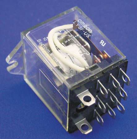 Relay 11Pin 3PDT 5A 24VAC by USA Omron Electrical Specialty Relays