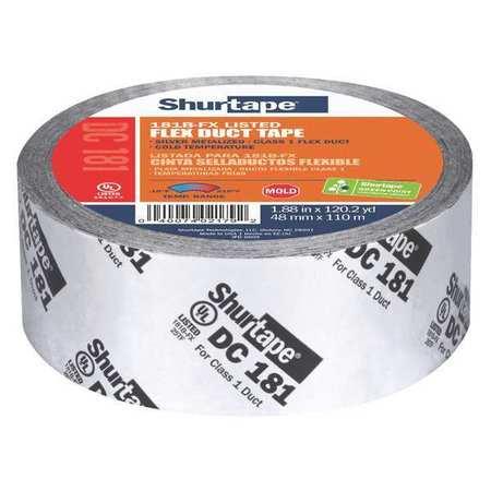 Shurtape Hvac Tape 48x110m 3 Mil Silver Metallic Dc 181