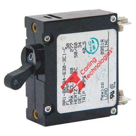 1P Magnetic Supplementary Protector 15A 125VAC by USA Carling Circuit Breakers