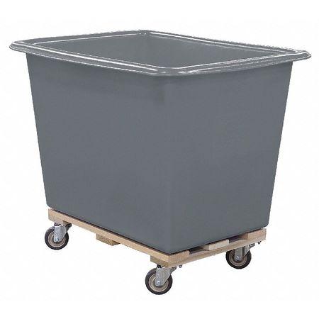 Royal Basket Poly Truck 8 Bu Gray Wood Base