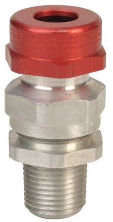 Cable Connector 1/2 in. Silver and Red by USA Appleton Electrical Strain Relief Connectors
