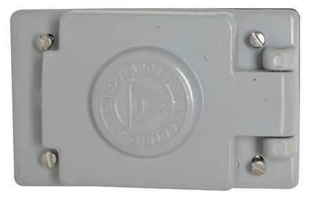 Weatherproof Cover Vertical 4 9/16 In.H by USA Appleton Electrical Weatherproof Box Covers