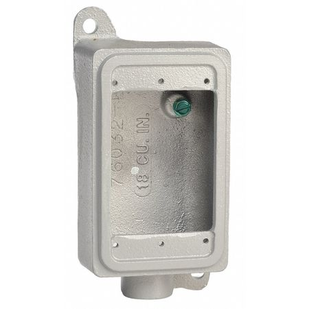 Weatherproof Box 1Gang 25cu. in by USA Appleton Electrical Weatherproof Boxes