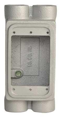 Weatherproof Box 4Inlet 1/2in Hub Iron by USA Appleton Electrical Weatherproof Boxes