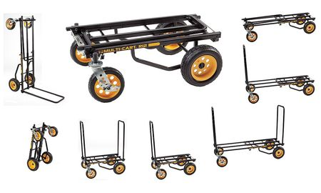 Value Brand 8-Way Convertible Cart 41-1/2 In H Black