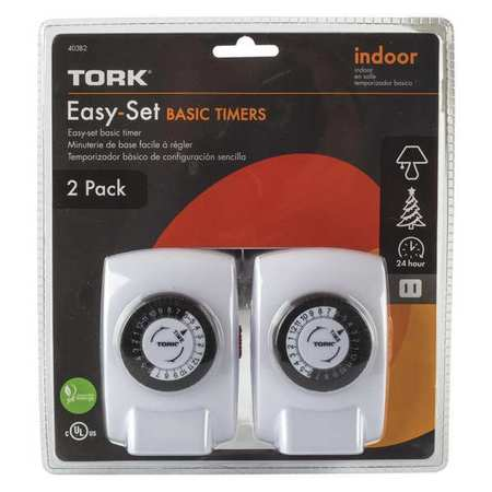Plug In Timer Indoor LED/CFL PK2 by USA Tork Electrical Plug In & Wall Switch Timers