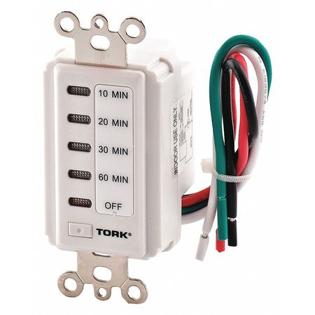 In Wall Timer Digital Countdown 120V by USA Tork Electrical Plug In & Wall Switch Timers