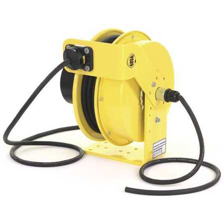 Cord Reel 50 ft 14/3 SO Yellow 600VAC by USA KH Extension Cord Reels