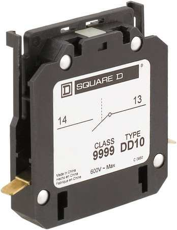 Def P Auxiliary Contact 1NO 10A Side Mnt by USA Square D Electrical Motor Auxiliary Contacts
