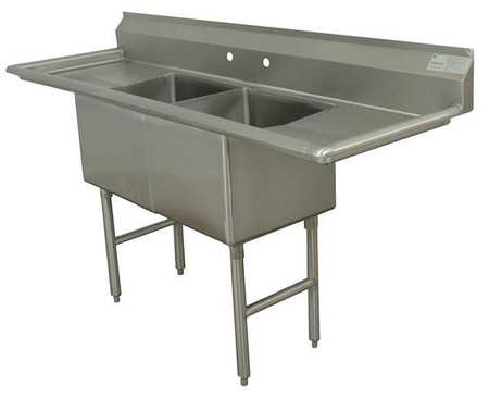 "Floor Mount  Scullery Sink, Stainless Steel Bowl Size 24"""" x 24 -  ADVANCE TABCO, FC-2-2424-24RLX"