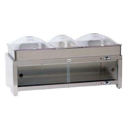 Buffet Server,w/ Warming Cabinet,3 Pans