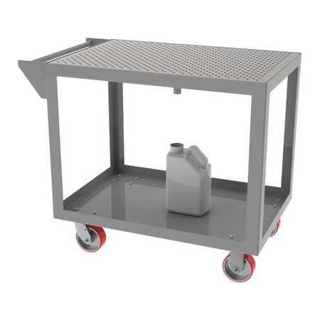 "Greene Portable Steel Cart 24""Dx36""W Perf Top"