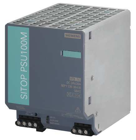 DC Power Supply 24VDC 20A 50/60Hz by USA Siemens Sitop Electrical AC DC Power Supplies