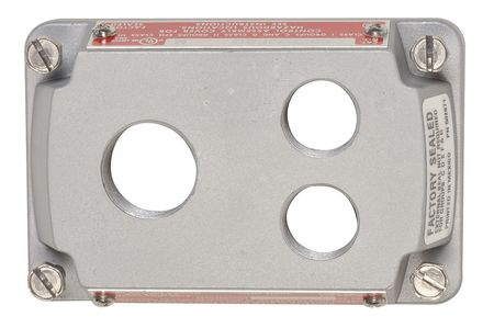 Hazardous Location Cover (3) Openings by USA Appleton Electrical Pushbutton Enclosures & Accessories