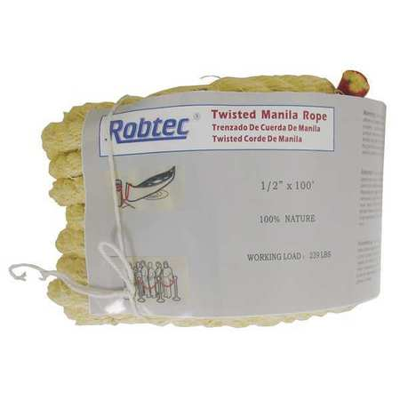 Value Brand Rope Manila Twisted 3/8 In. dia. 600ft L