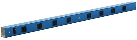 Power Strip 90 W x 4 D x 2 in. H Blue by USA Value Brand Extension Power Strips