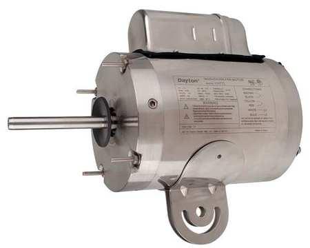 Washdown Motor PSC TEAO 1/4 HP 1075 rpm by USA Dayton DC Washdown Motors