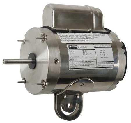 Dayton washdown motor psc teao 1 3 hp 1075 rpm 12v773 for 1 3 hp psc motor