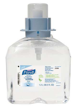 Hand Sanitizer,size 1200ml,foam,pk3
