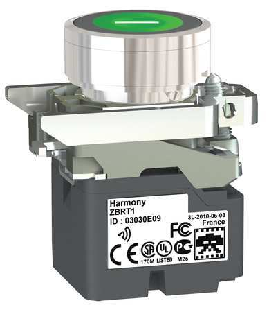 Push Button with Transmitter Green 22mm Model ZB4RTA331 by USA Schneider Electrical Pushbutton Complete Units